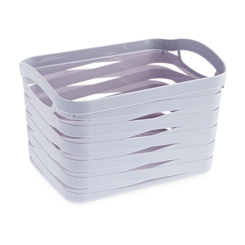 Ribbon Storage Basket 7L - Soft Grey
