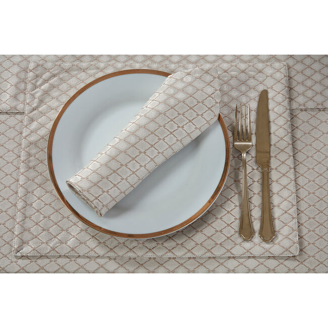 Diamond Geo Placemat Gold 2 Pack