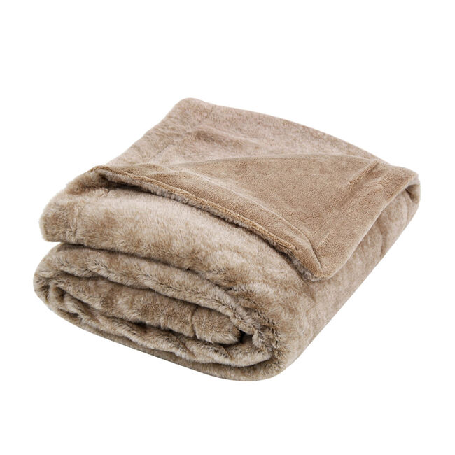 Nicole Day Beatrix Natural Throw 130cm x 170cm
