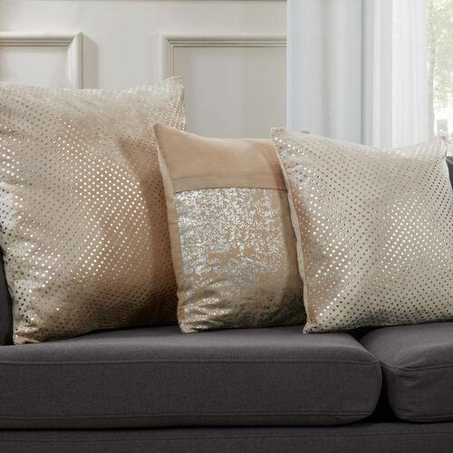 FOIL PRINT COTTON CHAMPAGNE 45x45 Cushion
