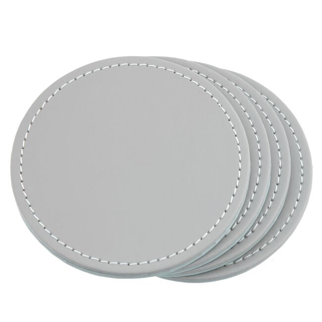 Reversible Round Coasters - Duck Egg & Grey