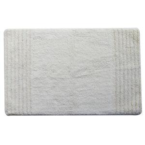 Cotton Metallic Cloud White 50cm x 80cm Bath Mat
