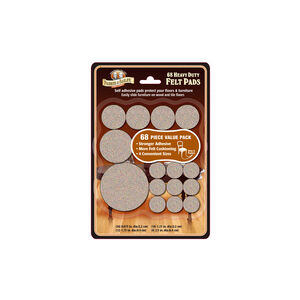 Parker & Bailey Heavy Duty Felt Pads - 68 Pack