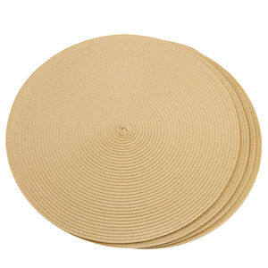 Round Woven Placemat Natural