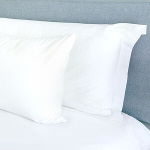 300TC Cotton Oxford Pillowcase Pair - White