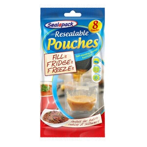 Sealapack Resealable Food Pouches 8Pk