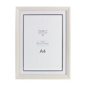 Cream Wood Photo Frame A4