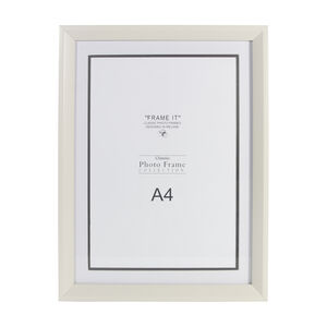 Cream Wood Photo Frame A4