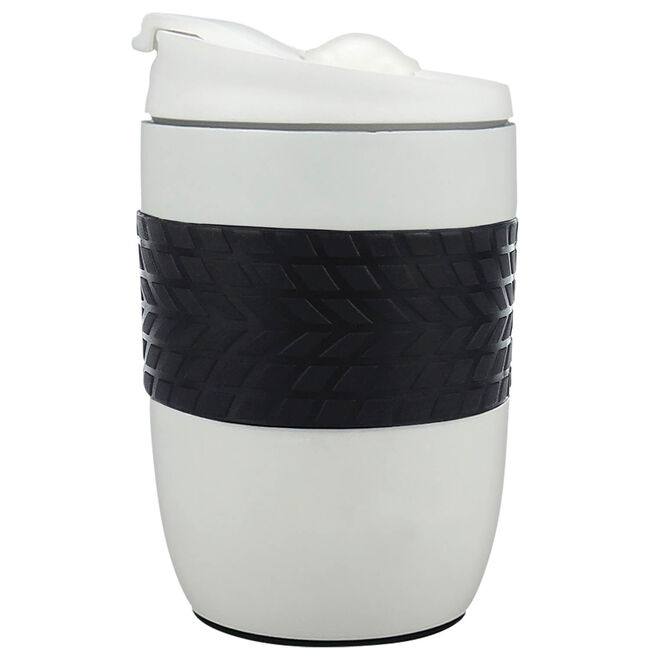 Body Go White Stainless Steel Travel Mug 260ml