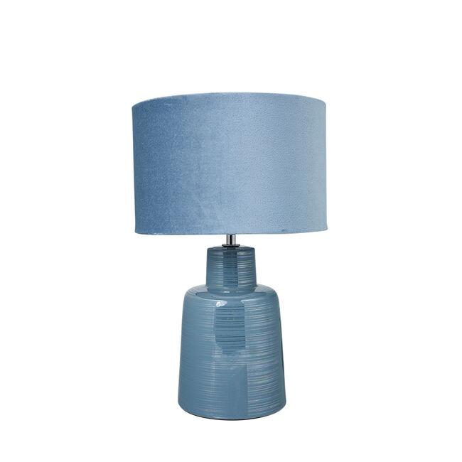 Antibes Glazed Table Lamp Blue
