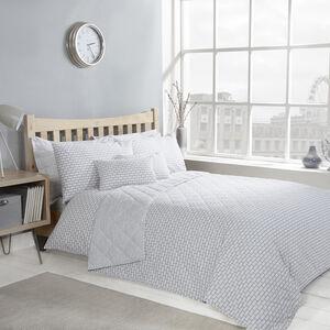 Brickwork Grey Bedspread