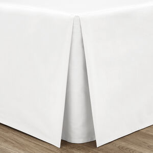 SINGLE PLATFORM VALANCE Luxury Percale White