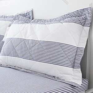 Smyth Blue Pillowshams 50x75cm