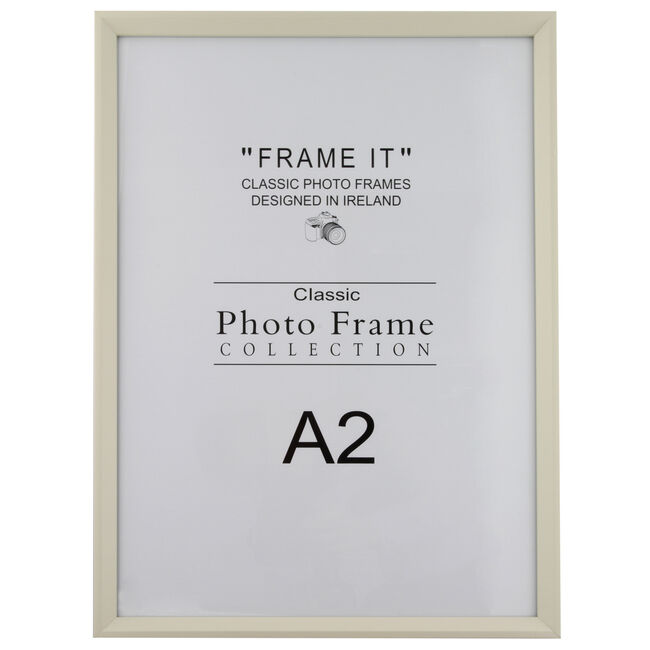 Slim Cream Photo Frame