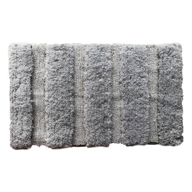Feather Stripe Bath Mat 40 x 60cm - Grey