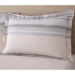 Sam Stripe Oxford Pillowcase Pair - Pink