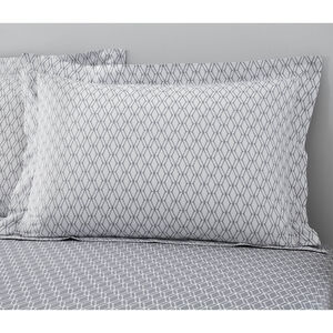 Cody Oxford Pillowcase Pair - Grey