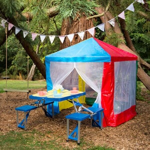 Kids Gazebo with Netting Curtain