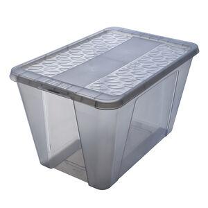 Ezy Snap Lock Storage Box 50L - Grey