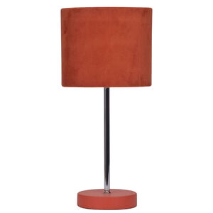 Red Suede Stick Lamp