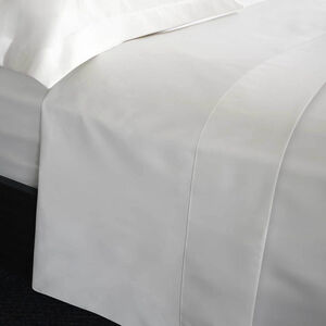 SINGLE FLAT SHEET 200 Threadcount Cotton White