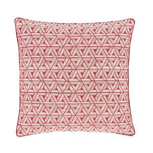Triangles Cushion Red 45cm x 45cm