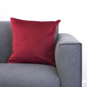 Triangle Stitch Burgundy Cushion 45x45cm