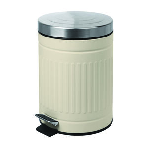 Renzo 5L Cream Trash Can