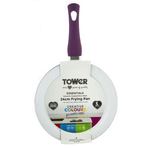 Tower Ceramic Plum Frying Pan 24cm