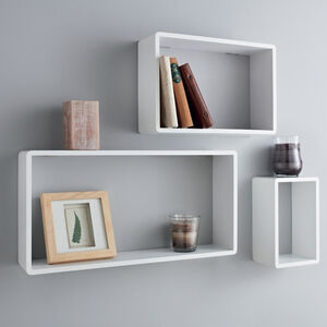 Rook Rectangle Wall Shelf Trio Set