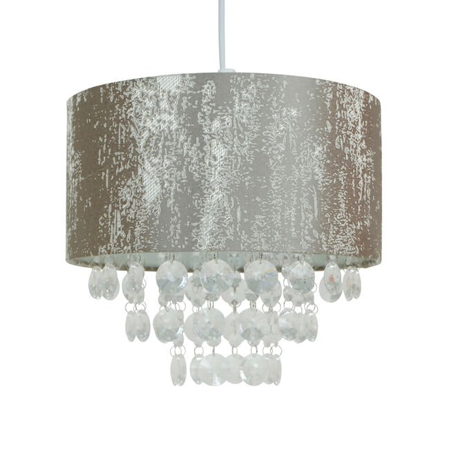 Crushed Velvet With Pendant Shade