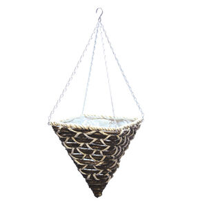 Cone-Shaped Corn Rope Hanging Basket