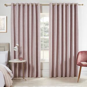 BLACKOUT & THERMAL BASKETWEAVE ROSE 90x90 Curtain