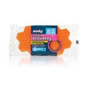 Minky Flower Scourers 2 Pack