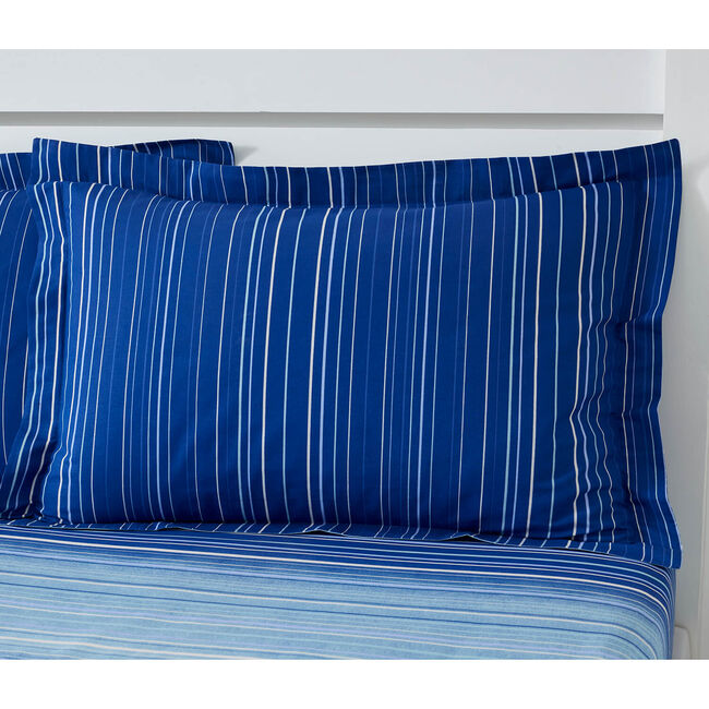 Robert Oxford Pillowcase Pair - Blue