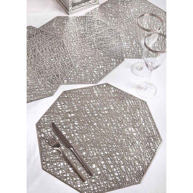 Hexagon Placemat - Silver