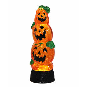 Halloween Swirling Lightup Pumpkin Stack