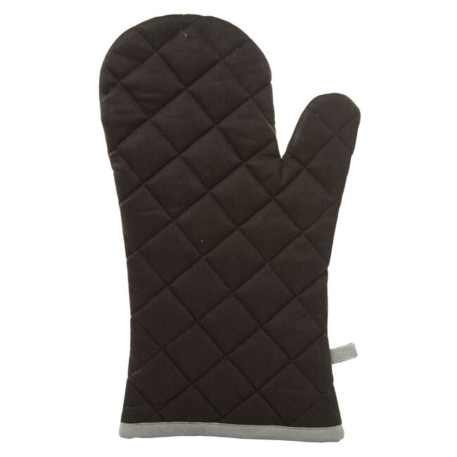 Two Tone Single Oven Glove - Black/Grey