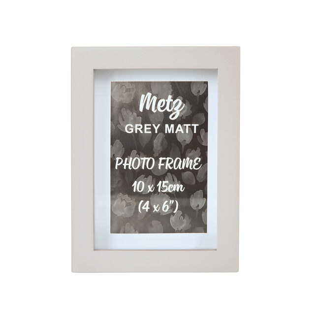 Metz Grey Matt Photo Frame 4x6""
