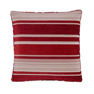 Conor Geo Stripe Red Cushion 45cm x 45cm