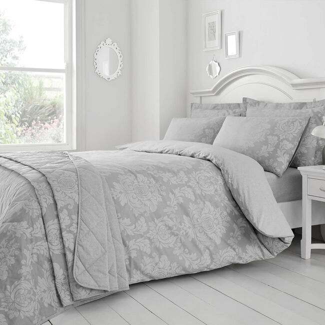 SINGLE DUVET COVER Elvira Grey