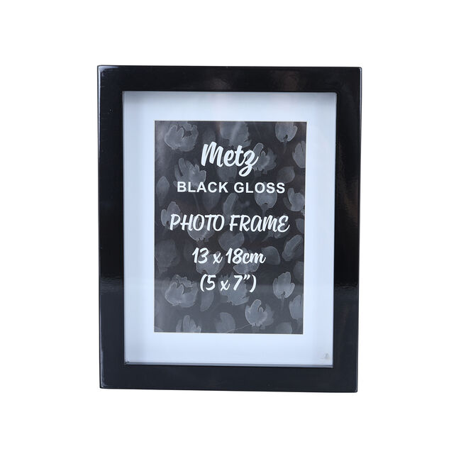 Metz Black Gloss Photo Frame 5x7""