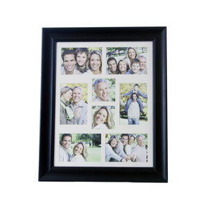 Classic Black 8 Window Photo Frame