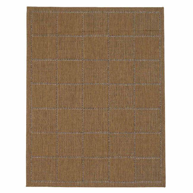 Checked Flatweave Doormat 60x110cm - Doormat
