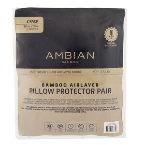 Bamboo Airlayer Pillow Protector Pair