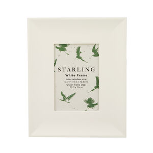 Starling White Photo Frame 4x6""