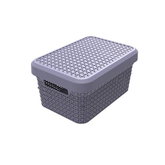 Ezy Mode 5.1L Small Lidded Basket Soft Violet