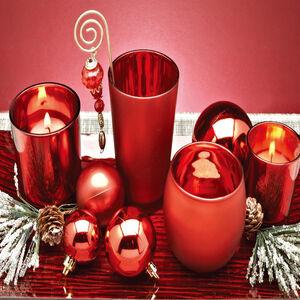 Red Votive Candle Holder Set