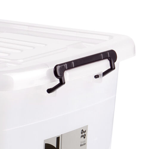 Rolling Storage Container 70L - Clear
