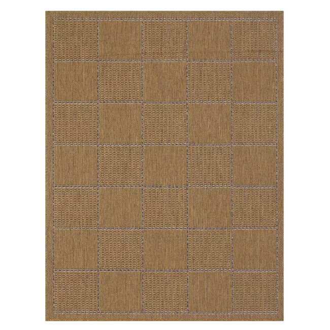 Checkered Flateweave Natural 160cm x 225cm